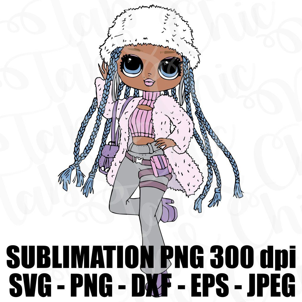 Snowlicious Omg Lol Surprise Doll Svg Jpeg Png 300 Dpi Dxf Eps High Def L O L Sublimation Iron On Design Topper O M G Winter Disco Lol Dolls Unicorn Coloring Pages Weird Images