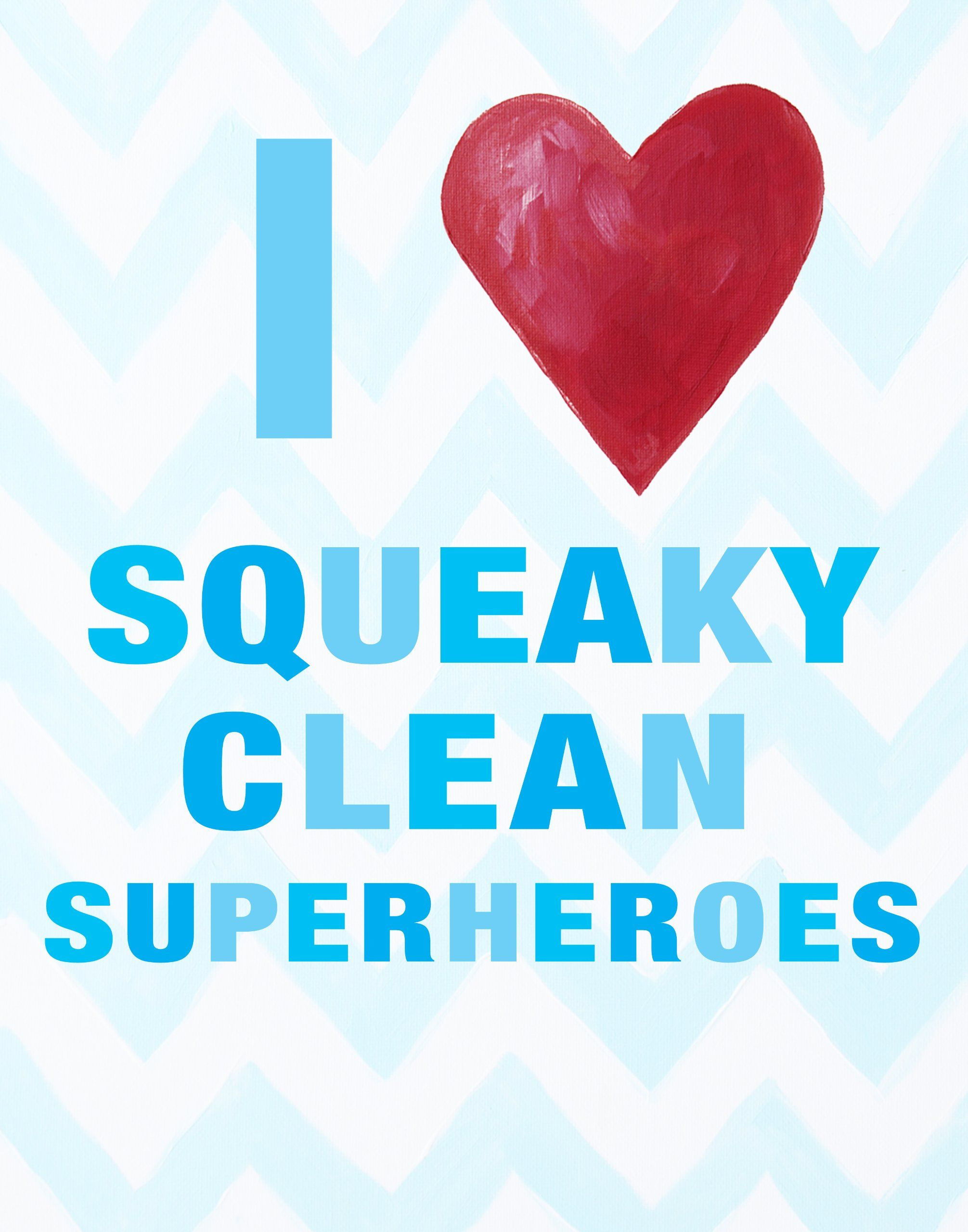 Cici Art Factory Wall Hanging, I Heart Squeaky Clean Superheroes ...
