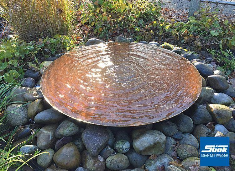 Gartenbrunnen Cortenstahl Schale 80 Japanesegardendesign Patio Water Feature Garden Fountains Water Features In The Garden