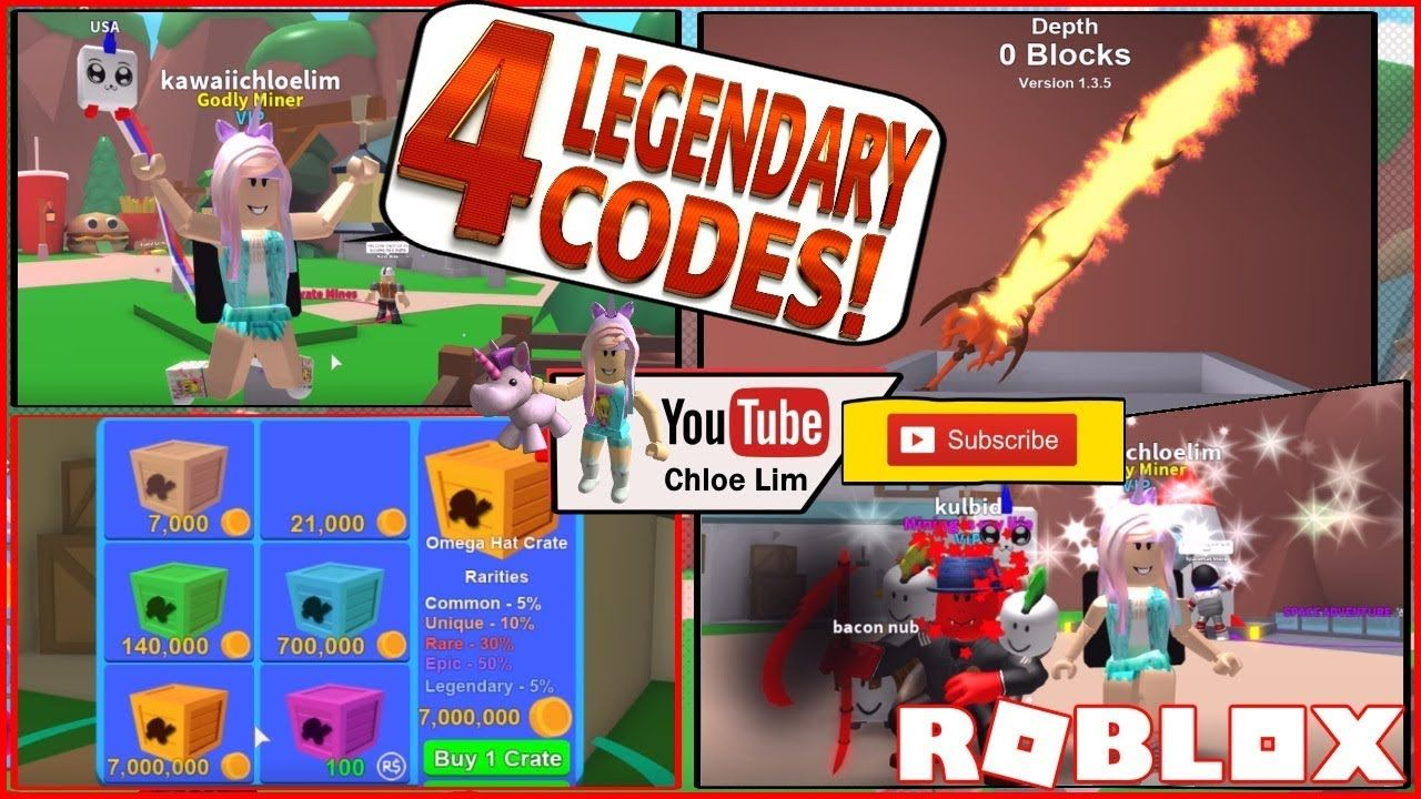 Roblox Mining Simulator 100m 4 New Codes Legendary And Updates Roblox Coding Simulation