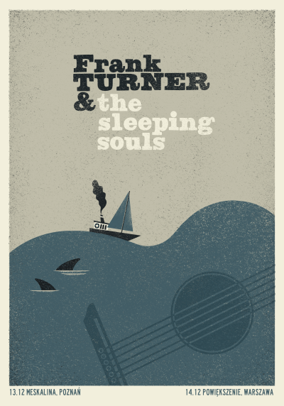 Frank Turner & the sleeping souls   poster BY Dawid Ryski