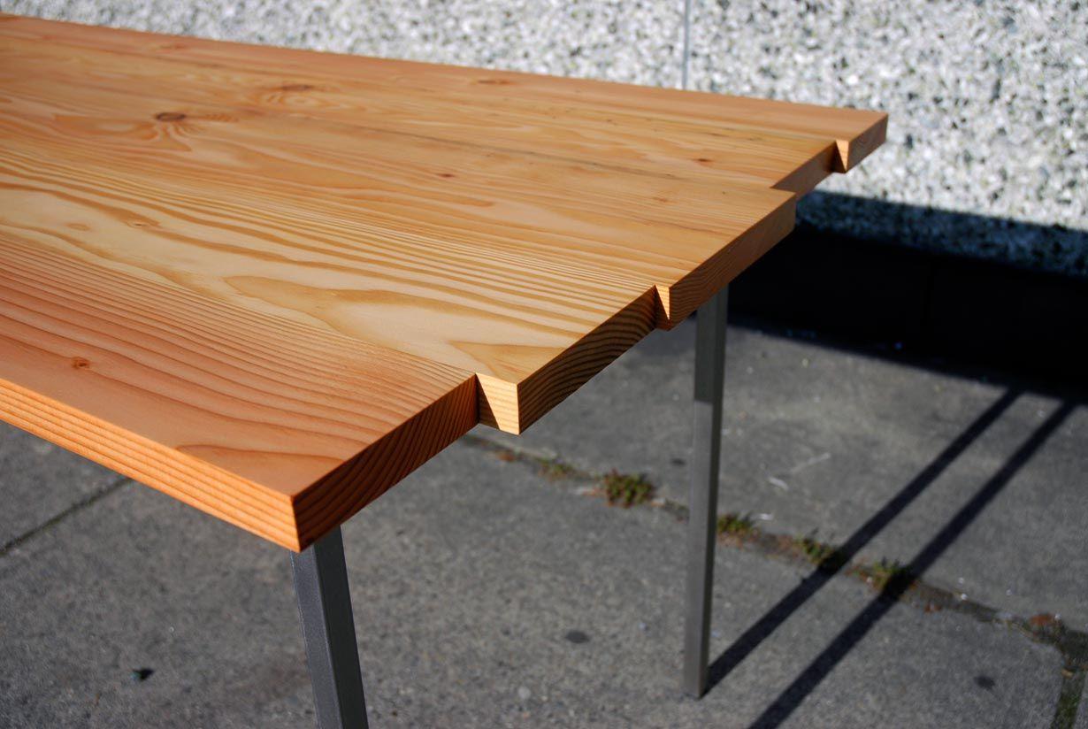 Iver   Reclaimed Douglas Fir Table Detail
