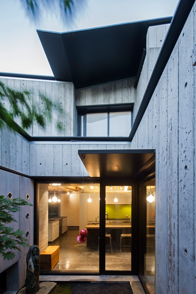 House window sunshade design  this house in vancouver was designed as a quiet refuge within the