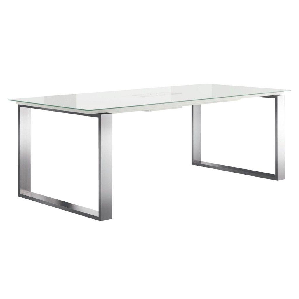 HÜLSTA - NOW ESSTISCH Edelstahl Optiwhite rechteckig, Silber, Weiß ...