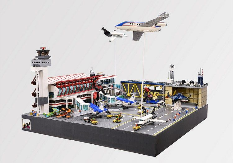 how to make a lego airport