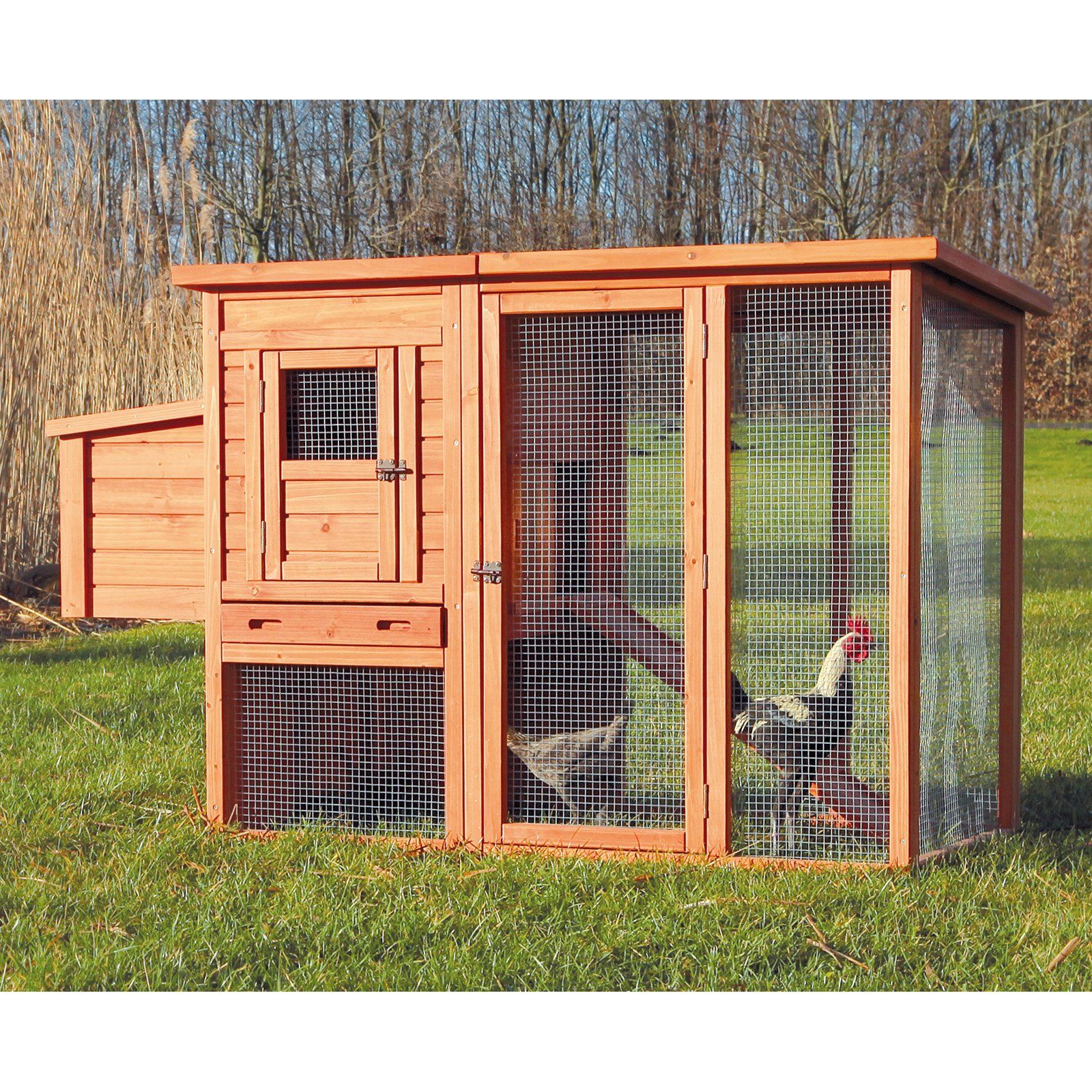 34 Free Chicken Coop Plans Ideas That You Can Build On: TRIXIE Chicken Coop With Outdoor Run - 55961