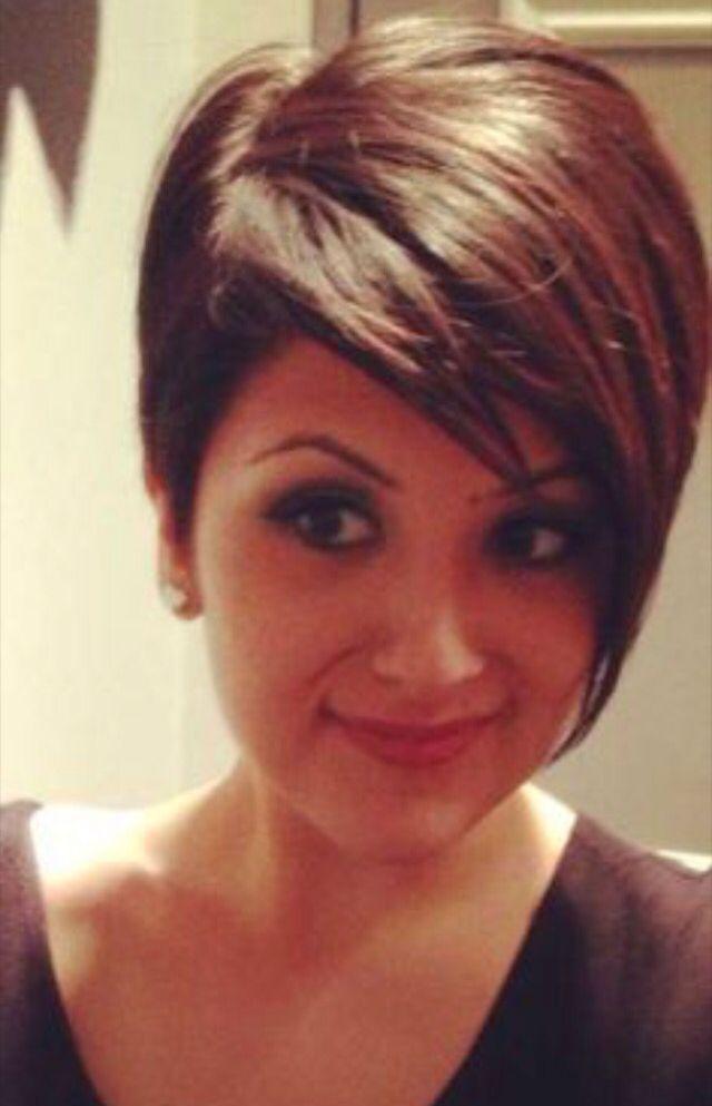 Short Hair On A Round Face Pinterest Short