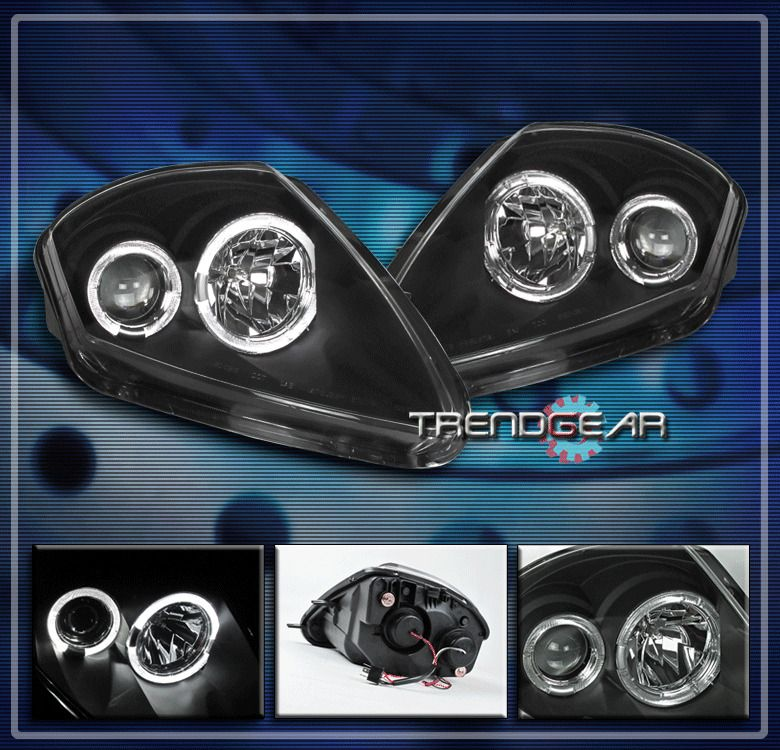 For Toyota 05-08 Tacoma Black Halo LED Projector Headlight+Smoke Tail Lamp