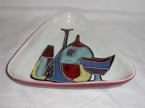 Midcentury Italian Pottery Bowl Tray Vase Motif Fantoni Gambone Raymor Bitossi   eBay