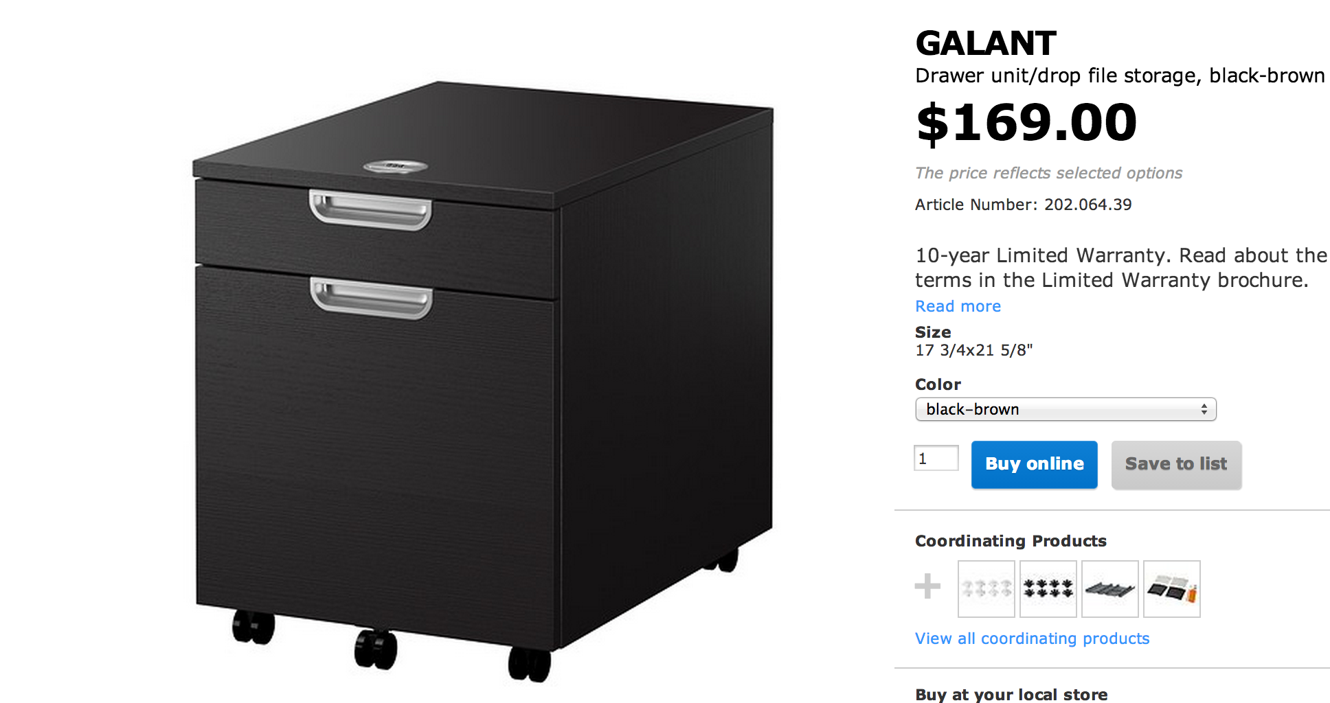 Ikea Galant 2 Drawer File Cabinet | New Office | Pinterest | Drawers