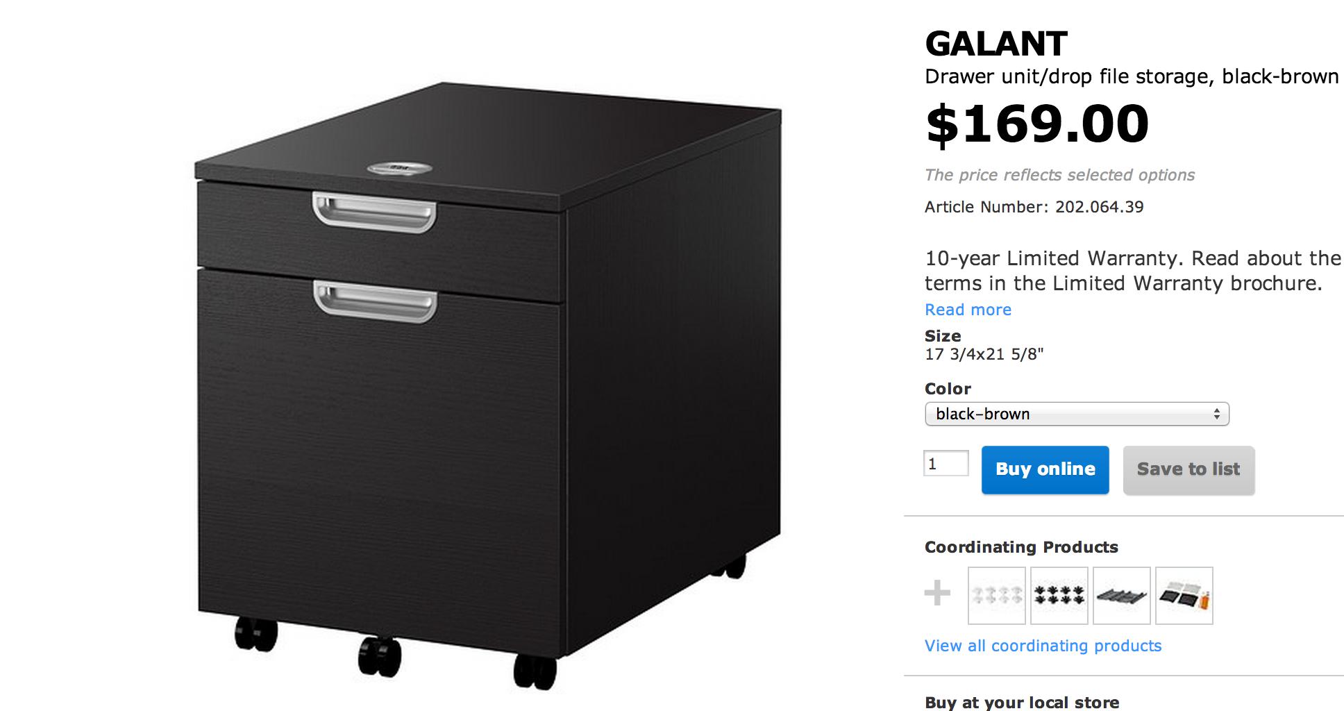 Ikea Galant 2 Drawer File Cabinet Drawer Unit Ikea Galant