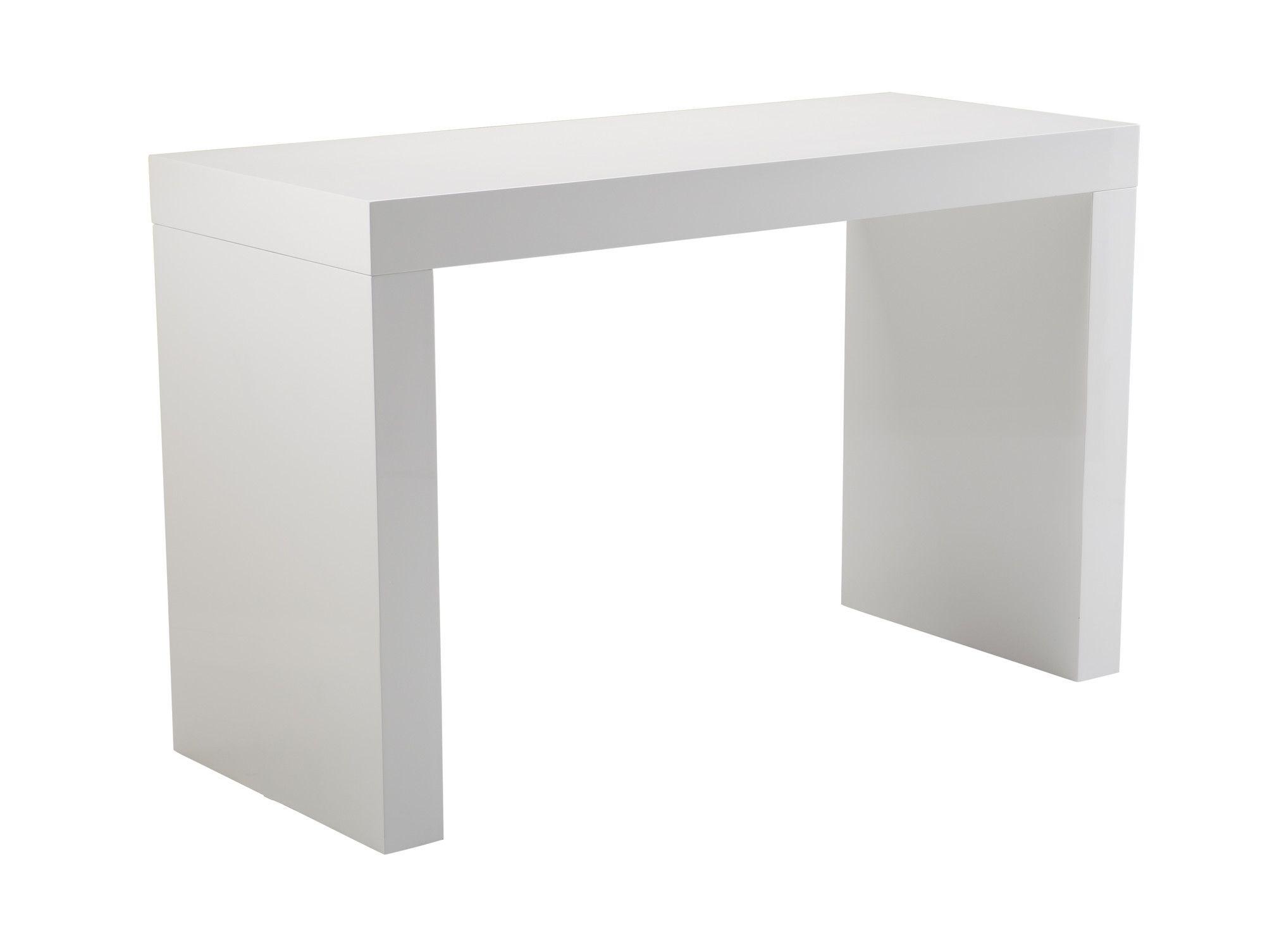 Sunpan Modern Faro High Gloss C Shape Counter Table Counter Height Dining Table Dining Table In Kitchen Dining Table