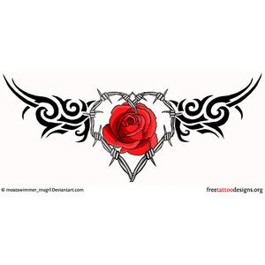 Gothic Tribal Rose Tattoos Bing Images Lower Back Tattoos Barbed Wire Tattoos Gothic Tattoo