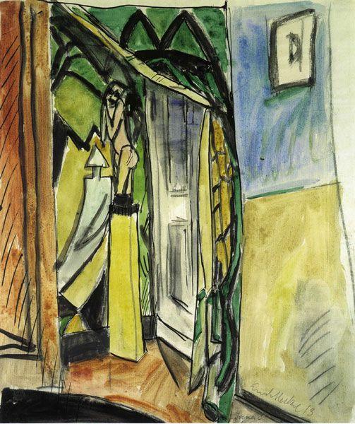 Erich Heckel, Interieur, 1913 | Peinture, Peintre et ...