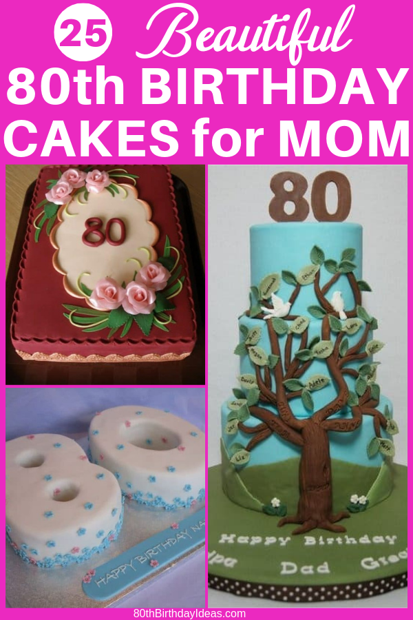 80th Birthday Cakes 80th Birthday Party Decorations 80 Birthday