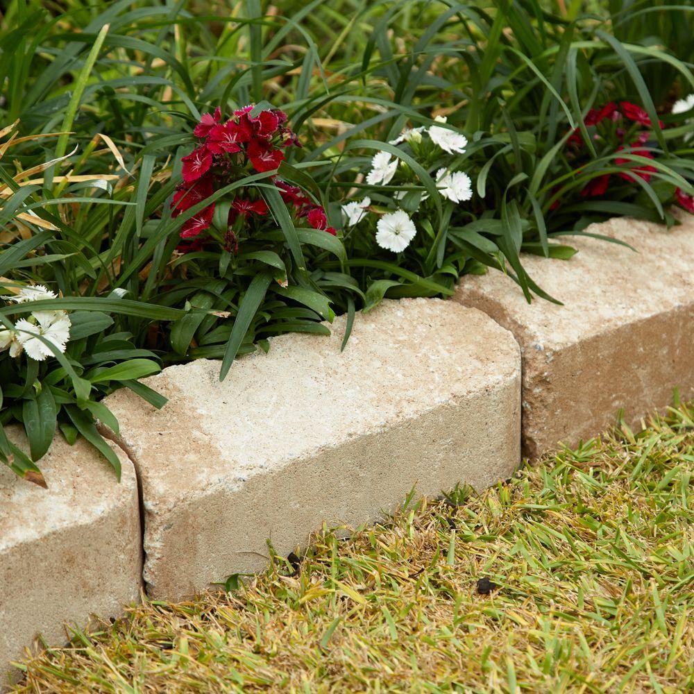 rumblestone 11 5 in x 3 5 in greystone concrete edger 144