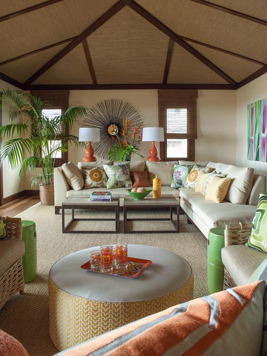 From Www.houzz.com Inspiration For A Tropical Living Room