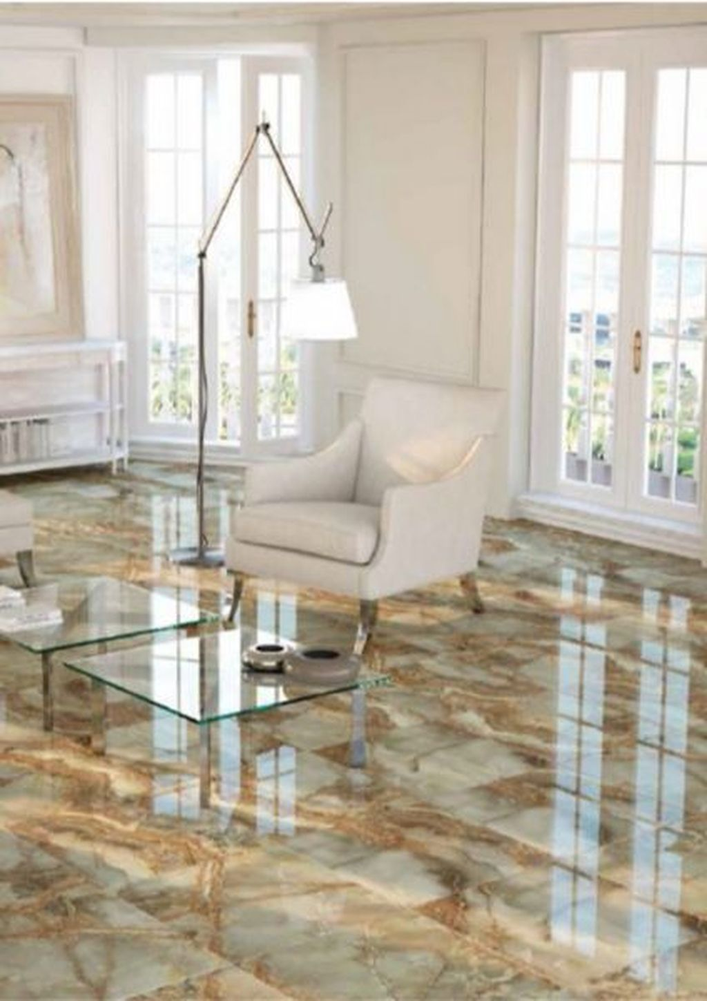 12 Chic Living Room Design Ideas With Floor Granite Tile To Have