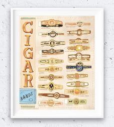 Cigar Band Illustration Art Print