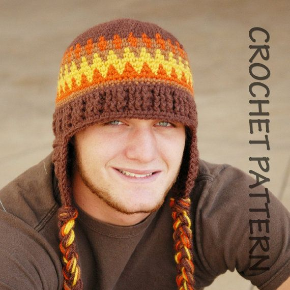 CROCHET HAT PATTERN Adult\'s Old School Beanie | Gorros, Para hombres ...