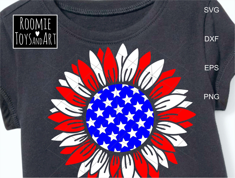 Download Patriotic sunflower SVG 4th of July svg American flag Svg ...