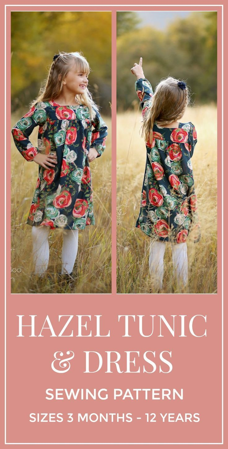 Hazel Dress and Tunic -   19 DIY Clothes For Kids dresses