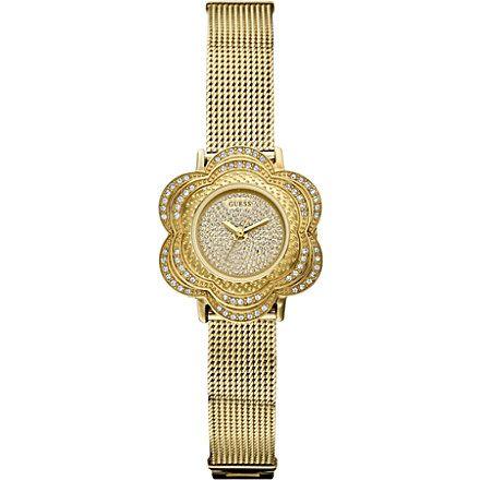 gold tone flower watch