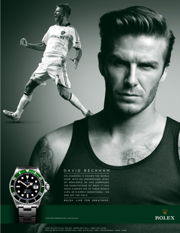 Rolex advertisement and its use of ethos, logos, and