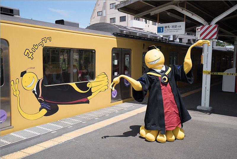Photo of Assassination Classroom's Koro-sensei Conducts Tokyo Train