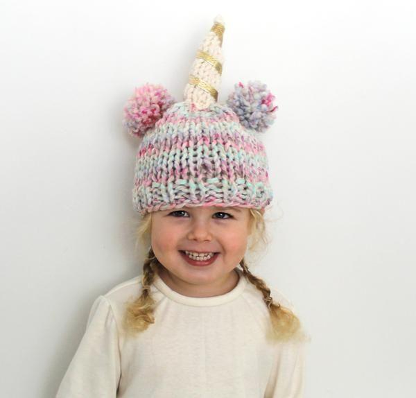 Little Unicorn Hat Knitting Pattern in 2020   Knitting ...