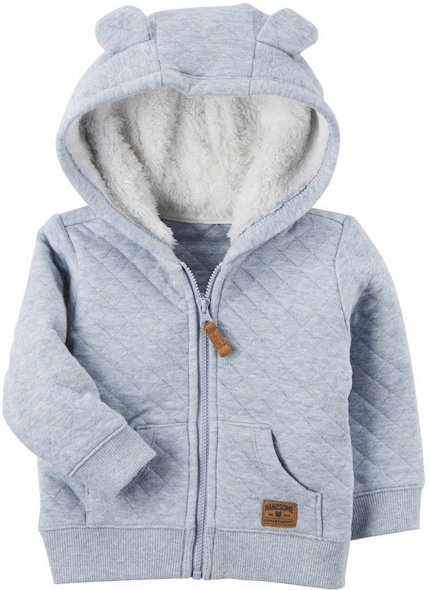 be2cbef9867b Carter s Baby Boy Sherpa Hood Quilted Jacket