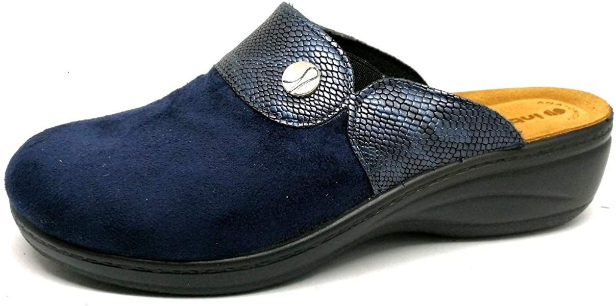 Photo of inblu Pantofole Ciabatte Invernali da Donna Art. LY-32 Blu