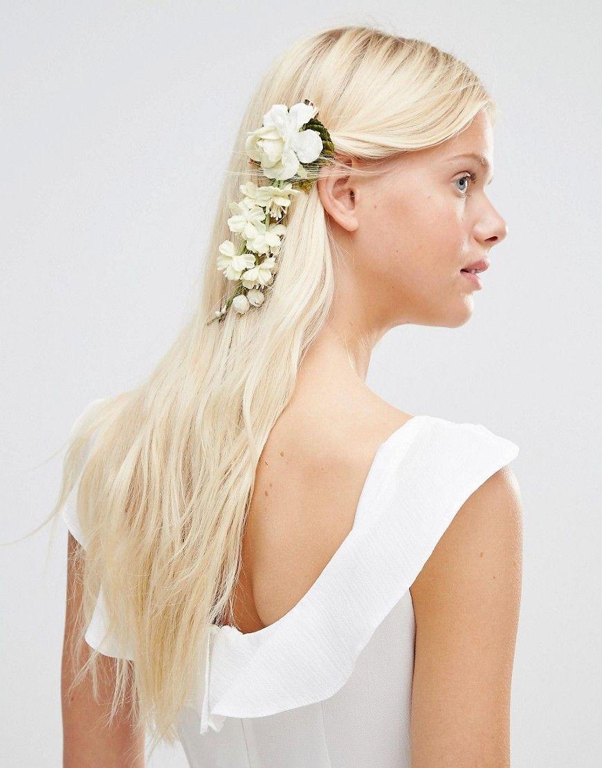 Immagine 1 di Her Curious Nature - Fermaglio per capelli con fiori crema