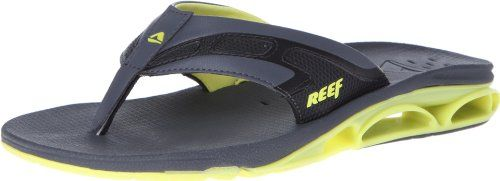 This sporty flip flop comforts the foot with anatomical arch support, while  Reef's signature bottle opener appears on the sole. Techy-look thong sandal  with