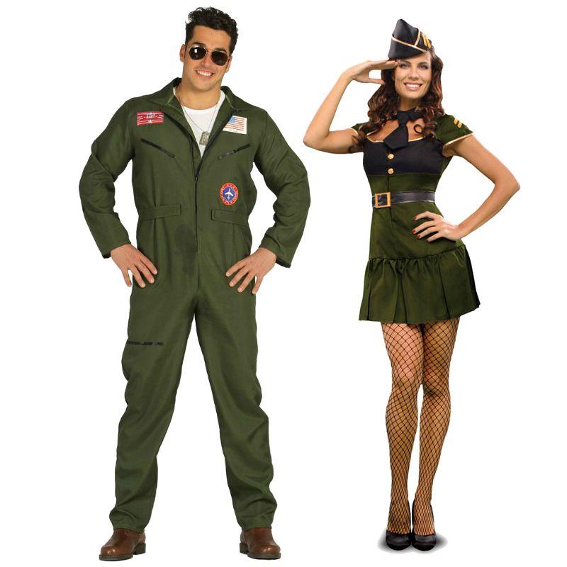 pareja disfraces de aviadores americanos parejas. Black Bedroom Furniture Sets. Home Design Ideas