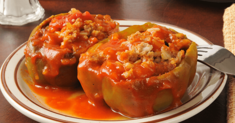 Stuffed Bell Peppers Recipe Easy Classic Recipe In 2020 Stuffed Peppers Bell Pepper Recipes Peppers Recipes