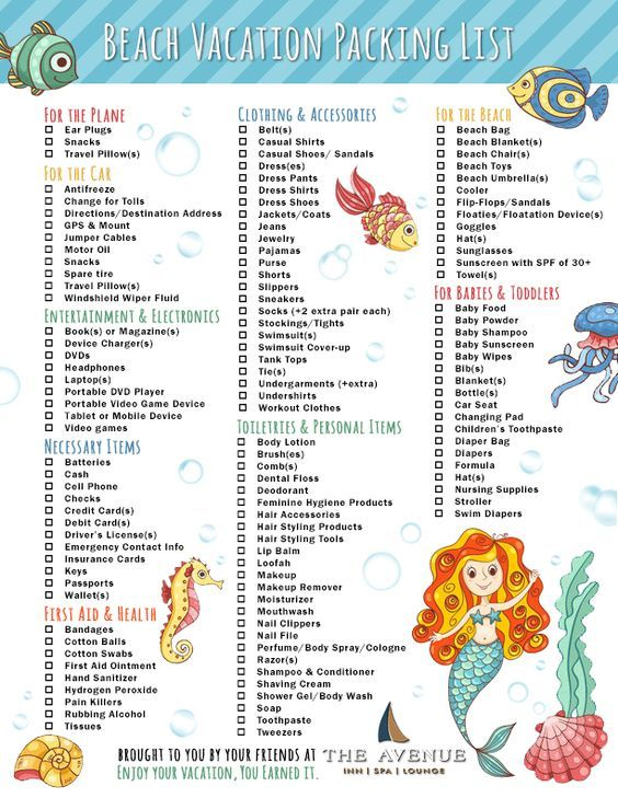 a31c4909a4 Never forget what to bring along again! This is the ultimate beach vacation  packing checklist for families!: