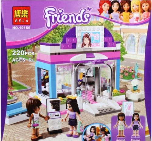 BELA 10156 Friends Series Butterfly Beauty Shop Lego Building Block 220pc Set