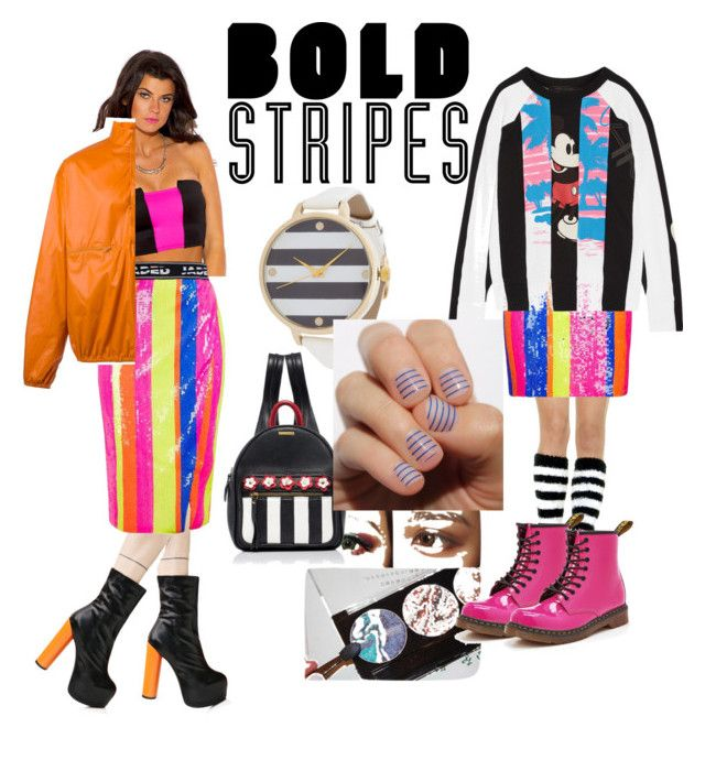 """""""Bright & Bold"""" by poompowping on Polyvore featuring Leg Avenue, Topshop, Marc Jacobs, Dr. Martens, Public Desire, adidas Originals and SoGloss"""