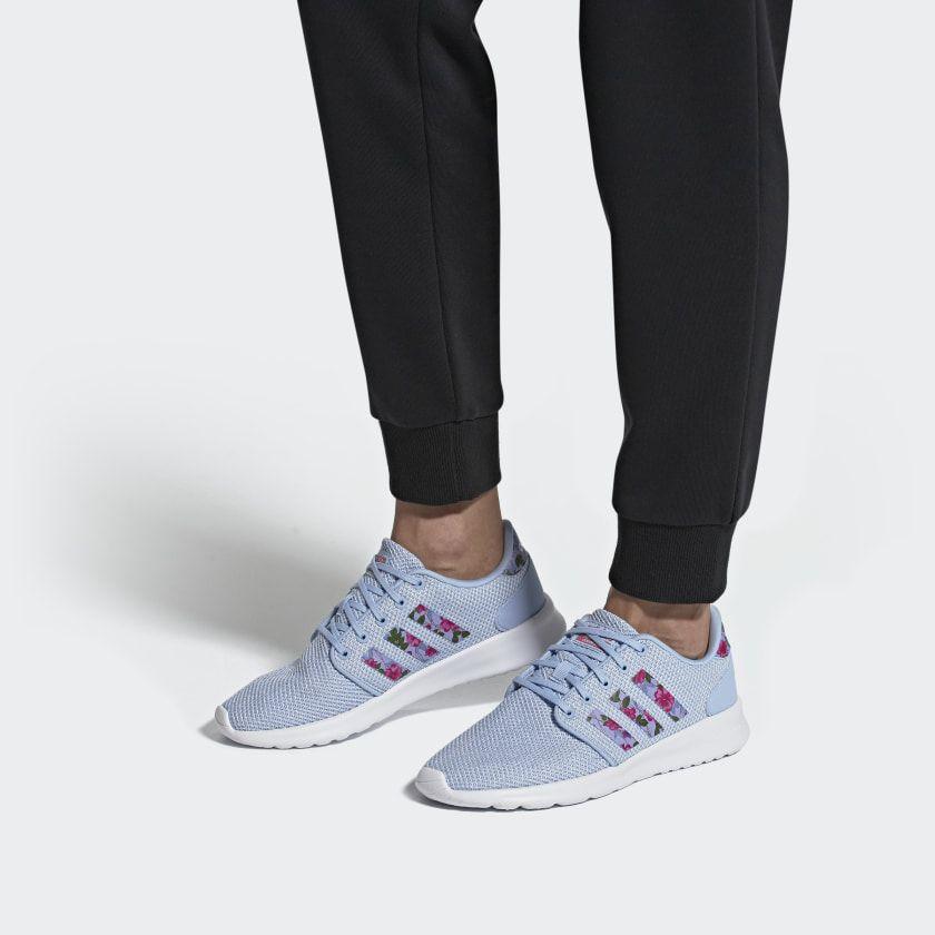 Qt Racer Shoes Glow Blue Cloud White Real Pink Ef0045 Shoes Blue Adidas Blue Shoes