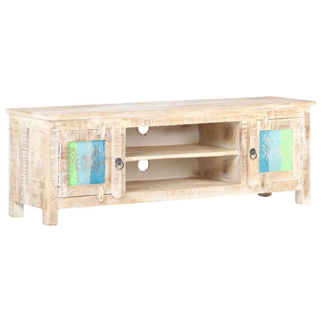Beraes TV cabinet 120x30x40 cm rough acacia wood