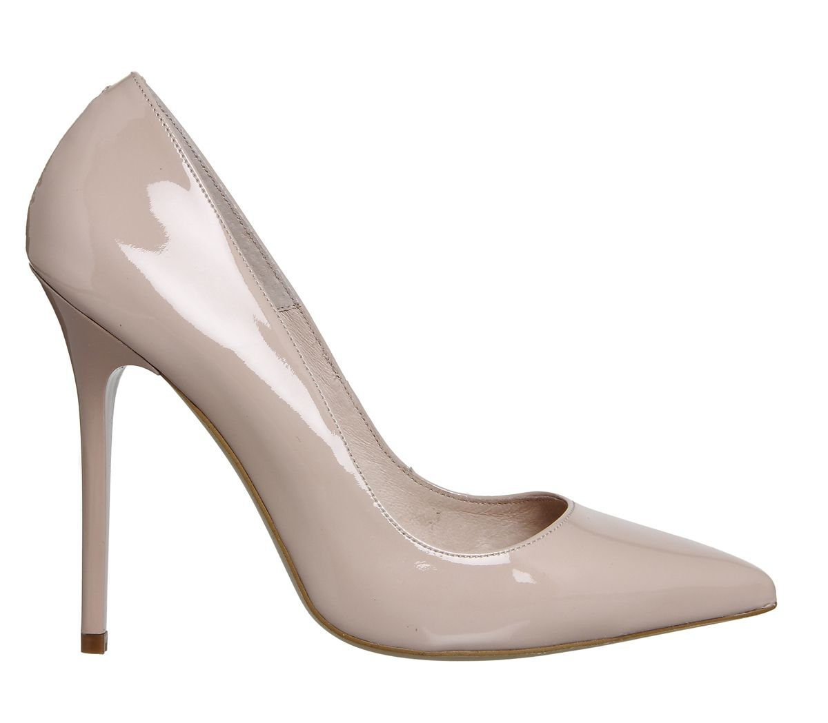 8d576c9535503 Light Nude Patent Leather Office On To Point Court Heels £65 11cm heel,  leather