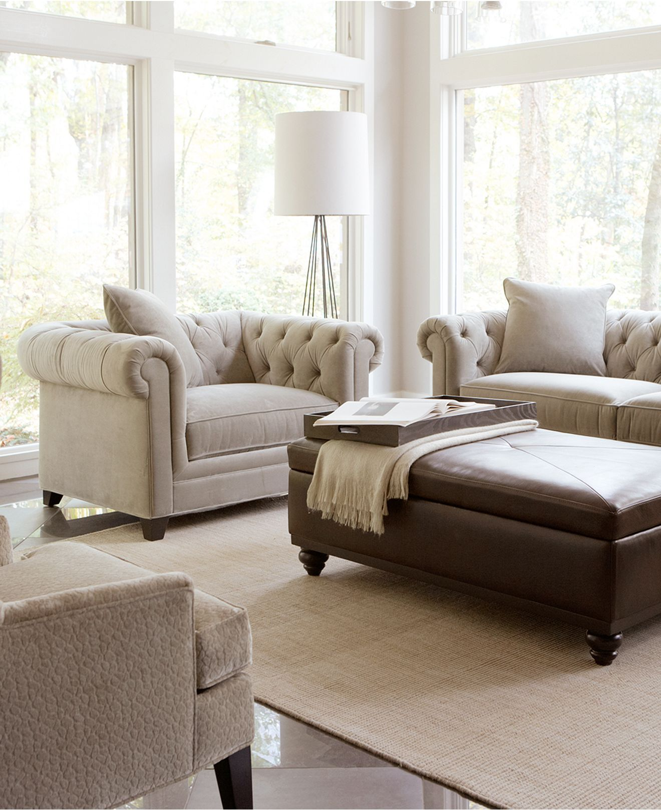 Martha Stewart Collection Saybridge Living Room Furniture Collection ...