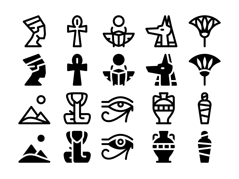Photo of Ancient Egypt Icon Set