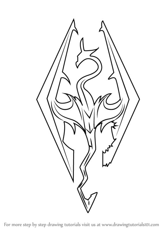 Learn How to Draw Skyrim Logo (The Elder Scrolls V: Skyrim