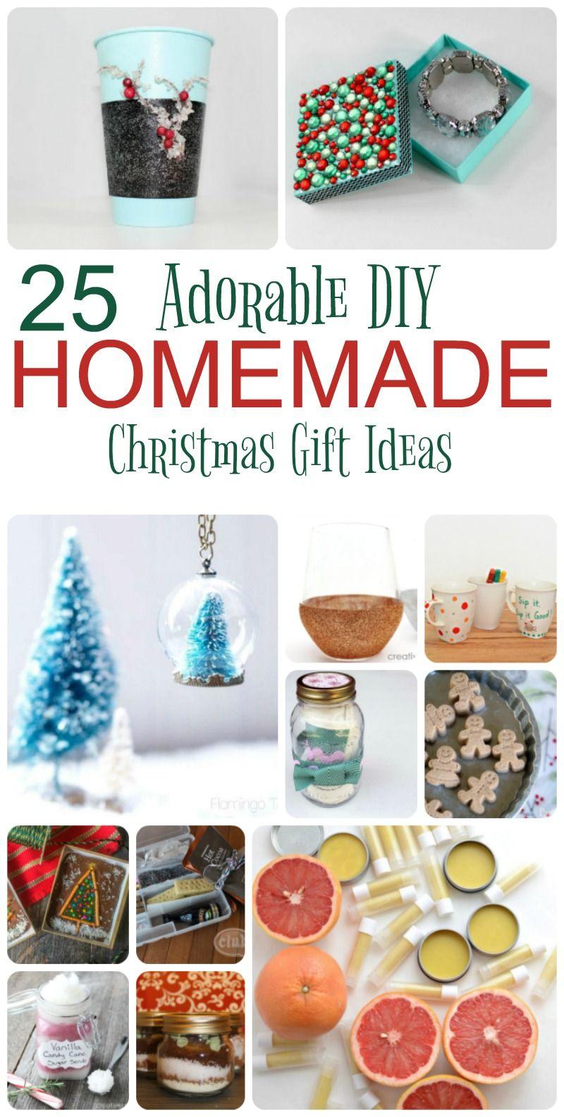 25 Adorable Homemade Gifts To Make For Christmas Homemade Gifts Christmas Gifts Diy Homemade Gifts
