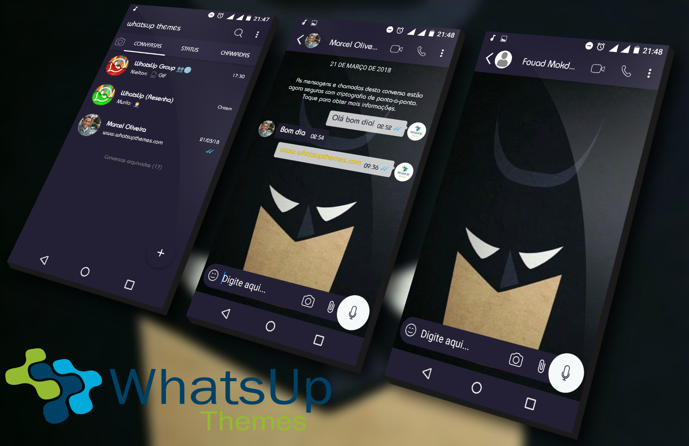 Tema Yowhatsapp Batman By Mazur Estados para whatsapp