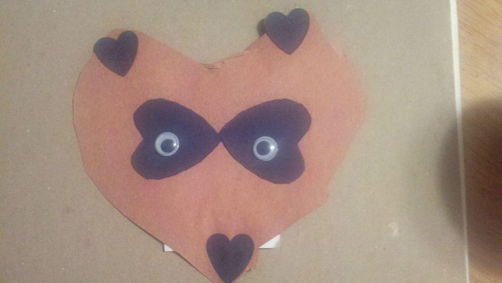 Raccoon Puppet Kissing Hand Add Brown Paper Bag Maybe A