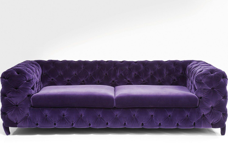 How To Clean Velour Upholstery Color Glo International Purple Velvet Sofa Purple Sofa