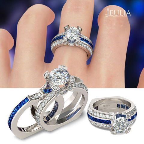 Fresh Cute design, two-in-one, sterling silver engagement ring #jeulia